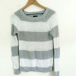 American Eagle Knit Stripe Jegging Sweater